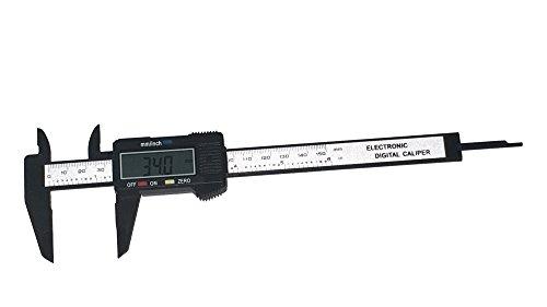 6 Zoll 150mm elektronische Digital-Schieber-Maßstab-Lehre Carbon-Faser-zusammengesetztes Vernier Mikrometer mit LCD-Anzeige
