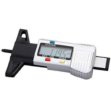 Buwico Digital-Schieber Vernier mit LCD-Digitalanzeige Reifenprofiltiefenmesser Tester 0-25.4mm Metric / inch