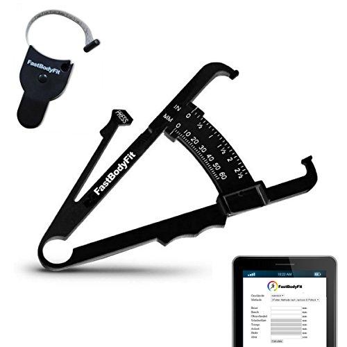 FastBodyFit Körperfettmessgerät und Körper-Massband mit Software.