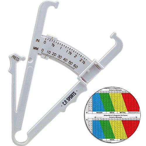 C.-P. Sports Körperfettmessgerät mit Tabelle, BMI, Anleitung in deutsch